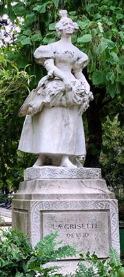 Estatua de La Grisette, plaza Jules-Ferry, Paris 1830